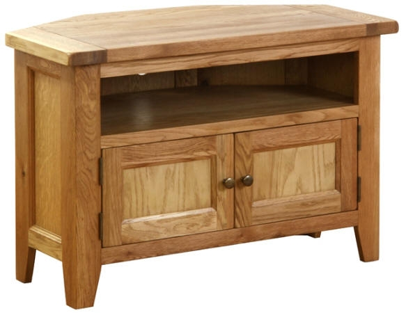New Hampshire Oak Corner TV Unit