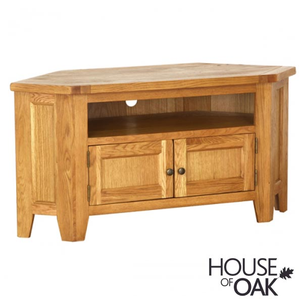 New Hampshire Oak Corner TV - large (up to 50′′)