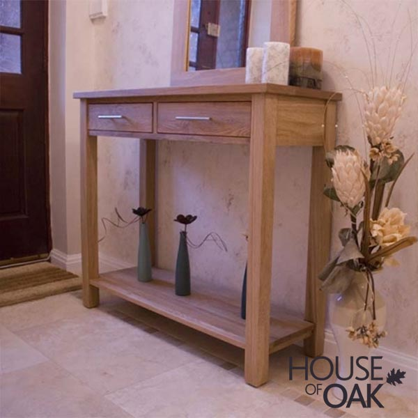 Opus Solid Oak Hall Console Table