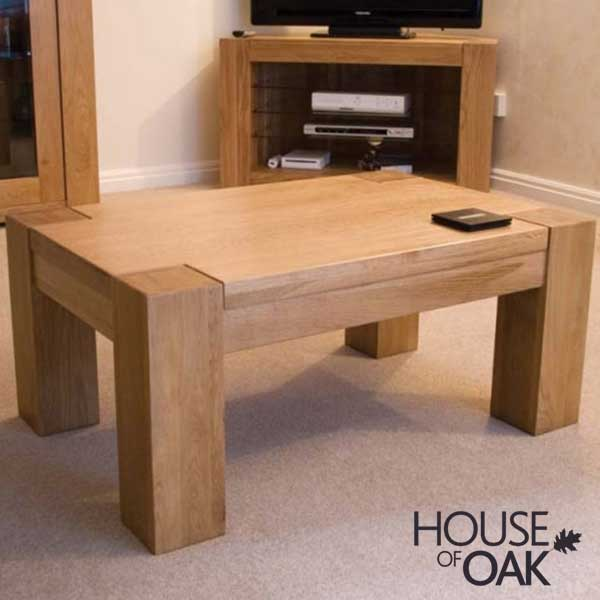 Pandora Solid Oak 3FT x 2FT Coffee Table