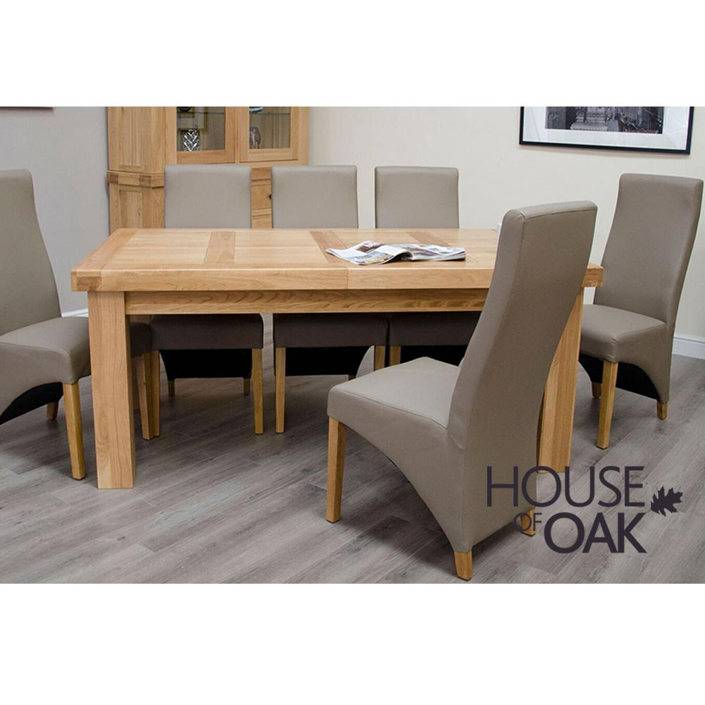 Bordeaux Oak Large Extending Table