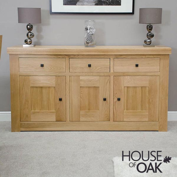 Bordeaux Oak Medium Sideboard