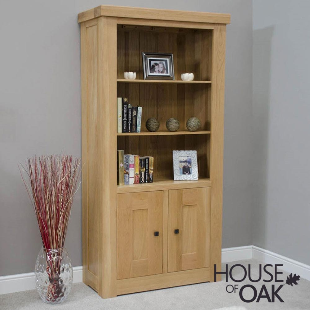 Bordeaux Oak 2 Door Bookcase