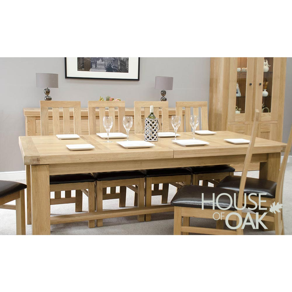 Bordeaux Oak Grand Extending Table