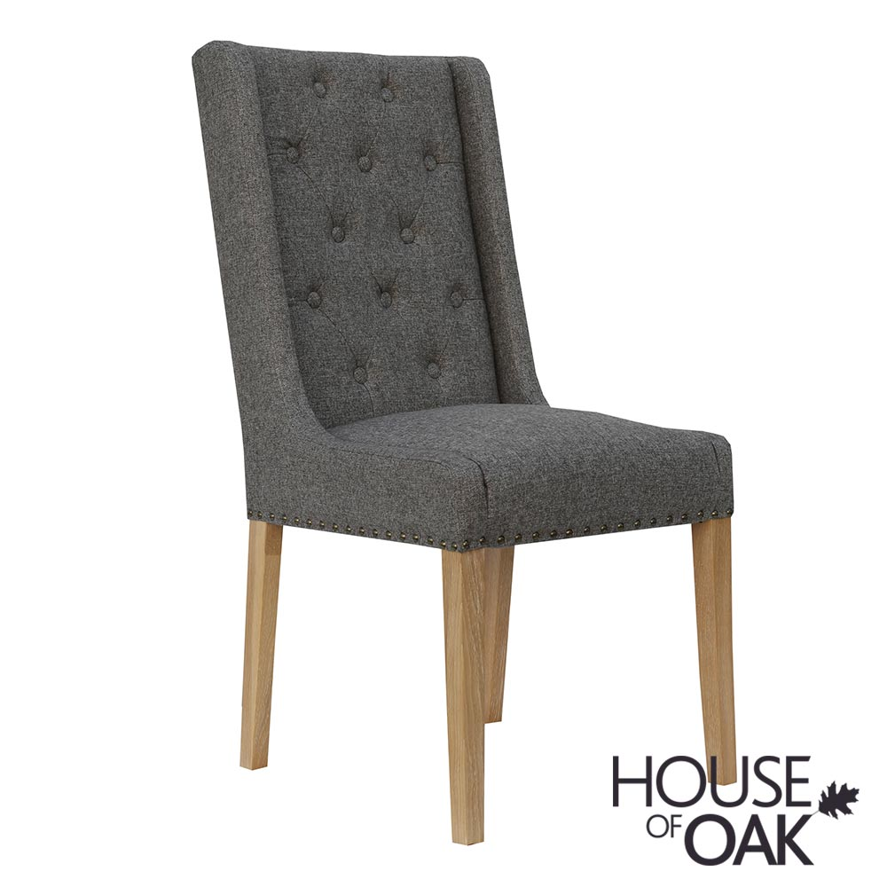 Chelsea Fabric Chair in Dark Grey