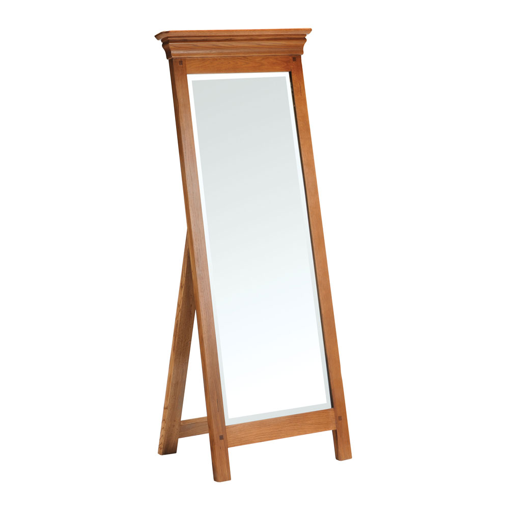 Clermont Oak Cheval Mirror
