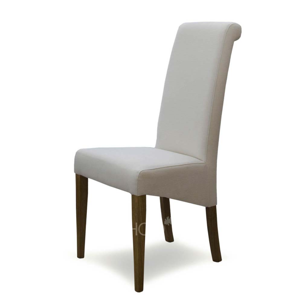 Italia Chair in Ivory Fabric