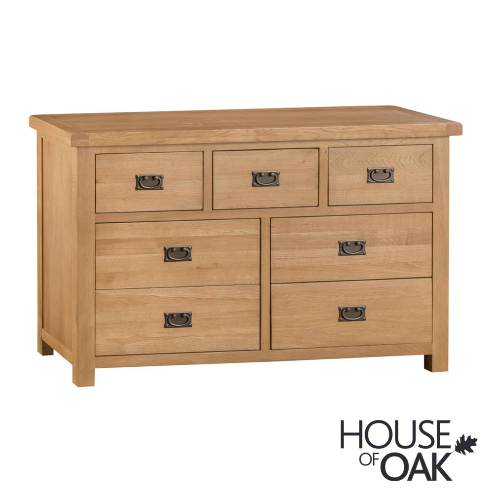 Harewood Oak 3 Over 4 Drawer Chest
