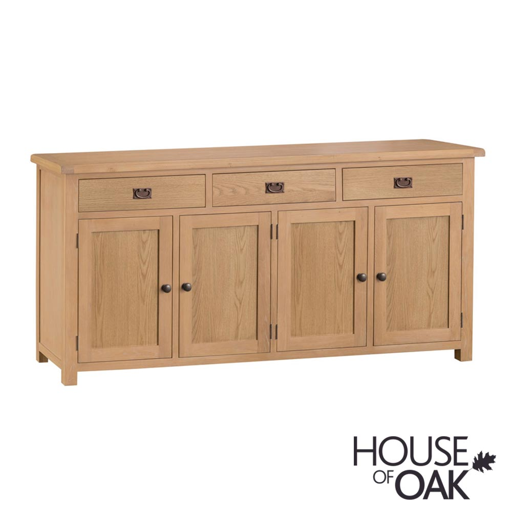 Harewood Oak 4 Door Sideboard