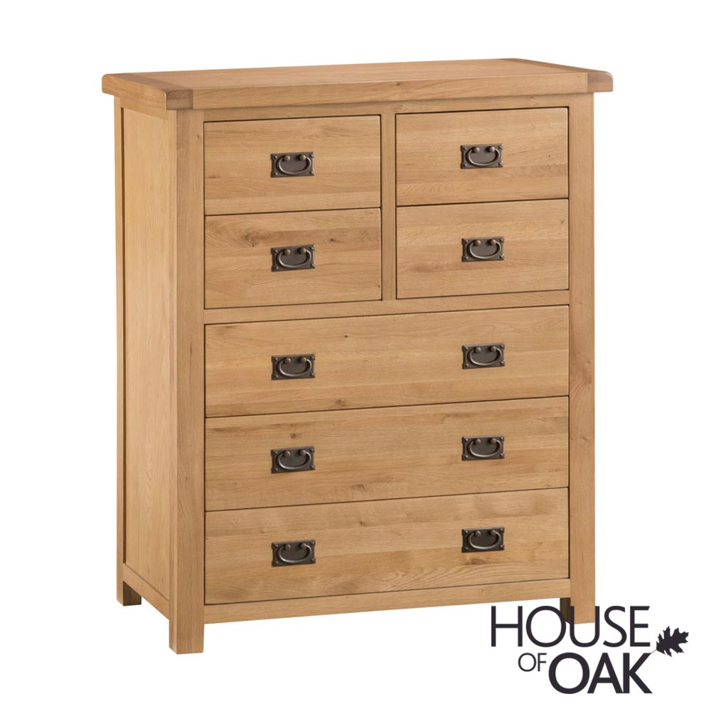 Harewood Oak 4+3 Drawer Chest