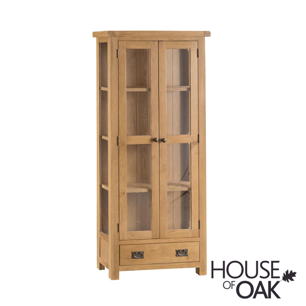 Harewood Oak Display Cabinet