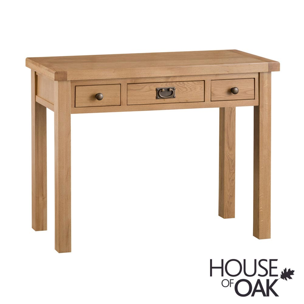 Harewood Oak 3 Drawer Dressing Table