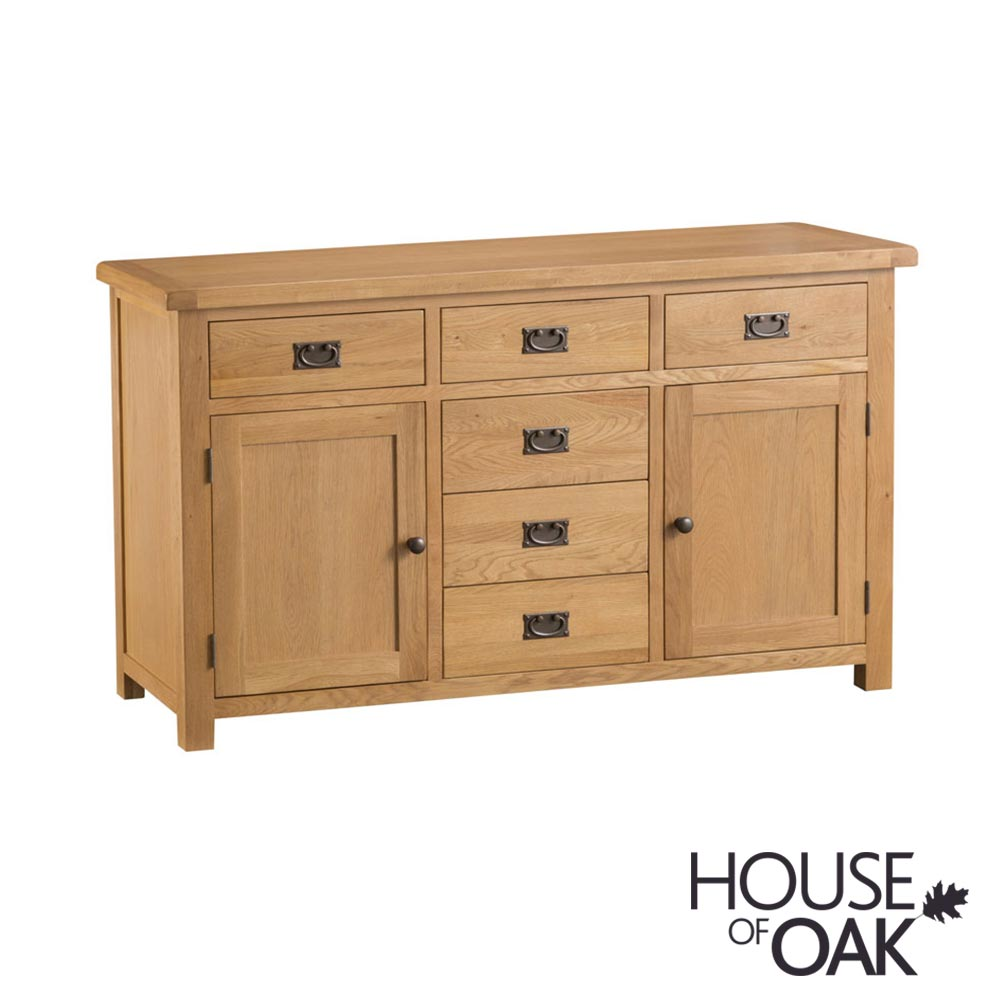 Harewood Oak 2 Door 6 Drawer Sideboard
