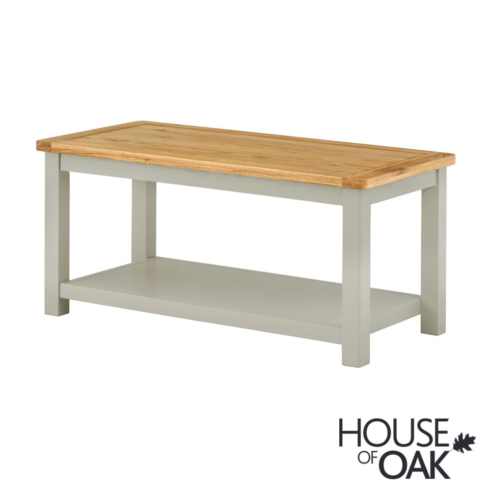 Portman Painted Coffee Table in Stone Grey