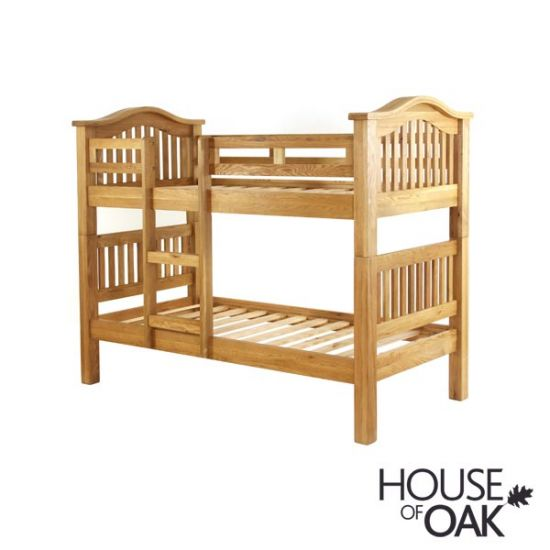 New Hampshire Oak Bunk Beds