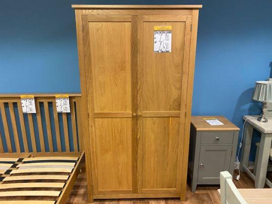Aspen Oak 2 Door Double Wardrobe