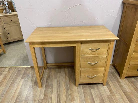 Provence Oak Single Pedestal Dressing Table