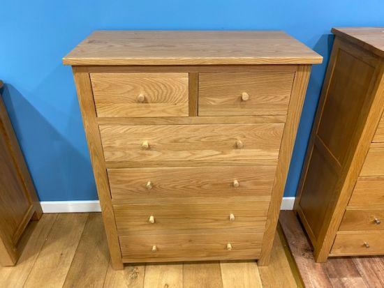 Aspen Oak 2 Over 4 Chest of Drawers