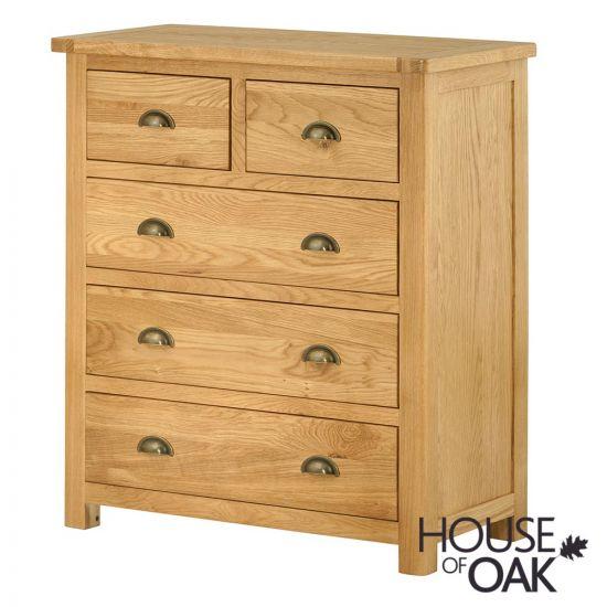 Portman 3+2 Drawer Chest in Oak