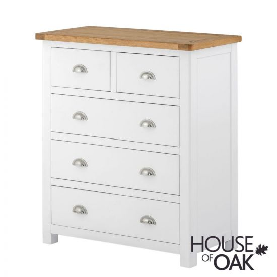 Portman Painted 3+2 Drawer Chest in White