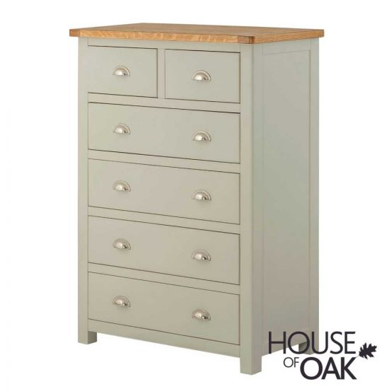 Portman Painted 4+2 Drawer Chest in Stone Grey