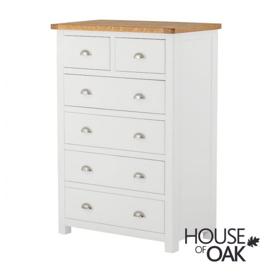 Portman Painted 4+2 Drawer Chest in White