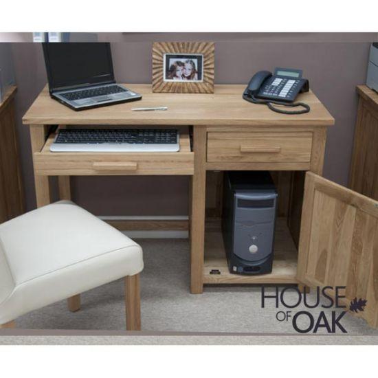 Opus Solid Oak Small Computer Desk