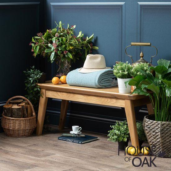 Malham Oak 110cm Bench