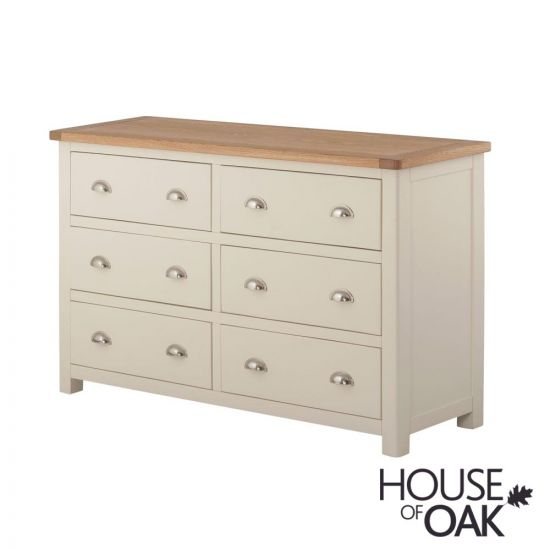 Portman Painted 6 Drawer Wide Chest in Cream