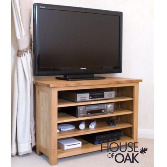 Opus Solid Oak Corner TV Cabinet