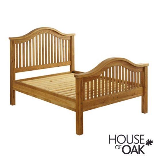 "Hampshire Oak 4FT 6"" Double Bed"