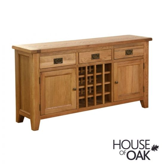 New Hampshire Oak Sideboard with Wine Rack