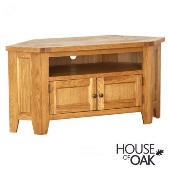 New Hampshire Oak Large Corner TV Cabinet