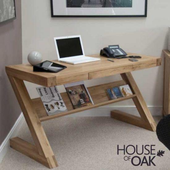 Z Oak Computer Desk