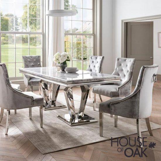 Arturo Grey 160cm Dining Table