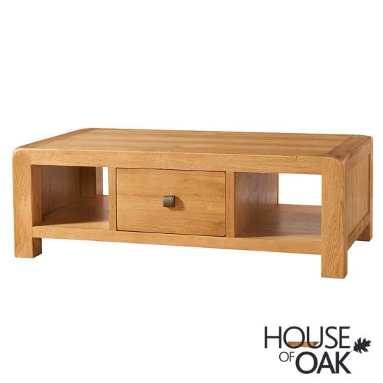 Wiltshire Oak Large Coffee Table with Drawer