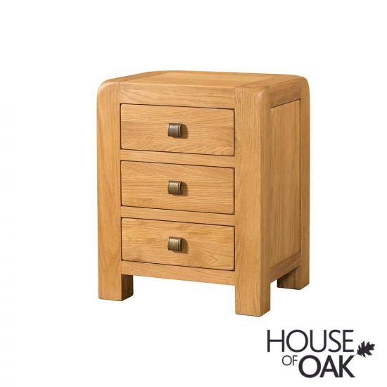 Wiltshire Oak 3 Drawer Bedside