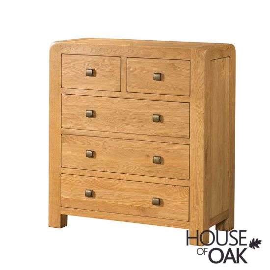 Wiltshire Oak 2 Over 3 Chest of Drawers