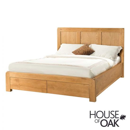 Wiltshire Oak 4FT 6'' Double Bed with Storage Drawers