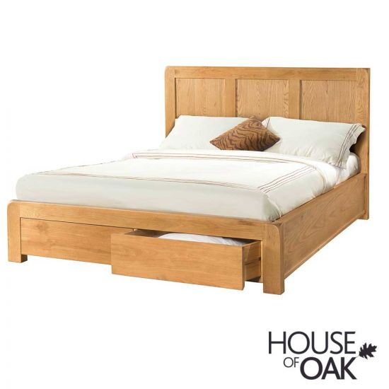 Wiltshire Oak 5FT King Size Bed with Storage Drawers