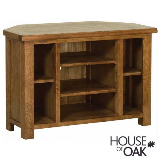 Farmhouse Oak Corner TV Cabinet