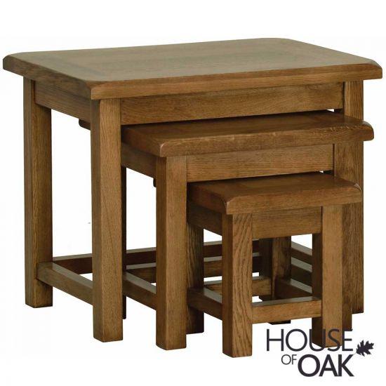 Farmhouse Oak Nest of Tables