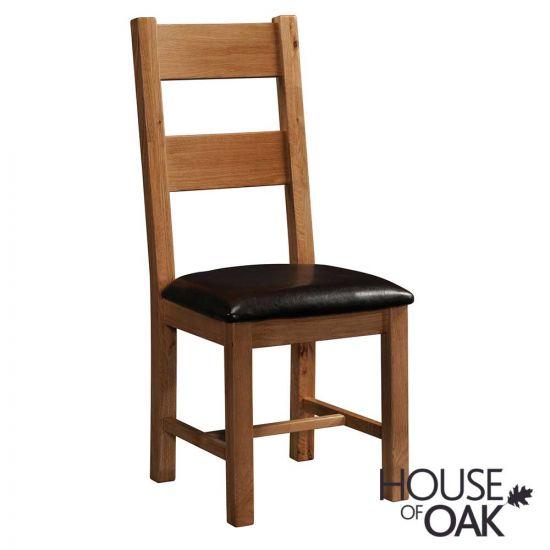 Farmhouse Oak Ladder Back Chair
