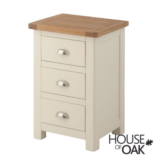 Portman Painted 3 Drawer Bedside in Cream