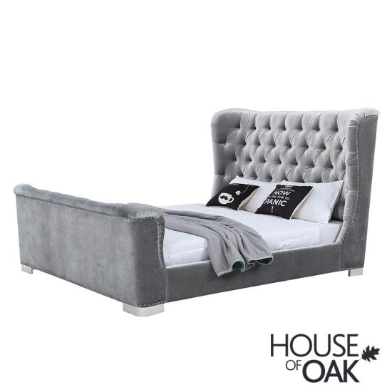 Belvedere 6ft Super King Size Bed in Pewter