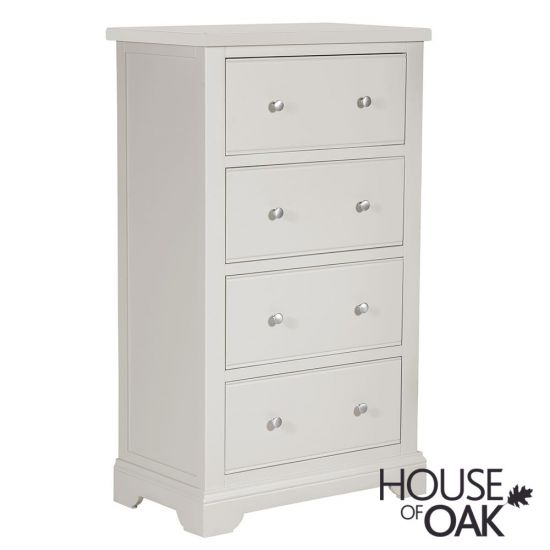 Symphony Grey 4 Drawer Tall Chest of Drawers