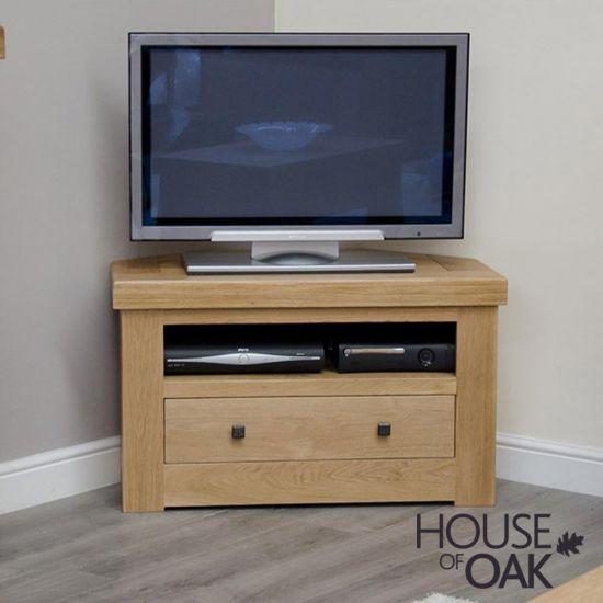 Manor Oak Corner TV Unit