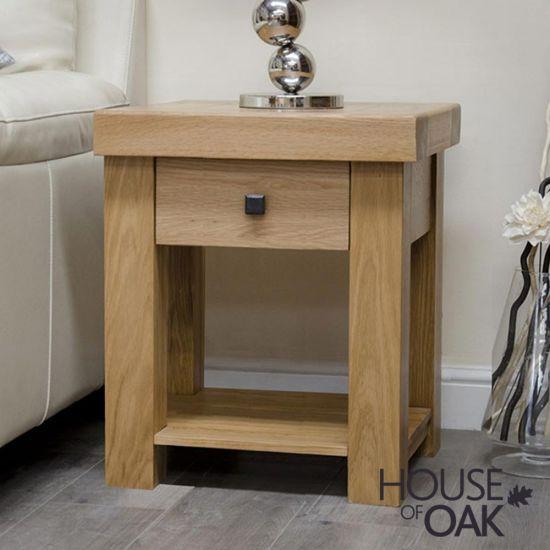 Manor Oak Lamp Table
