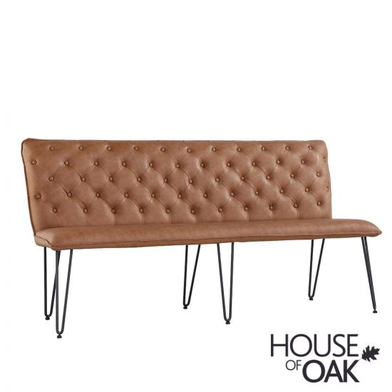 180cm Studded Back Bench in Tan