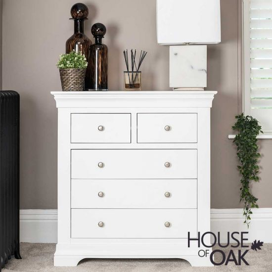 Chester White 2 Over 3 Chest of Drawers